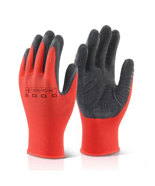 Multi Purpose Black Latex Poly Glove