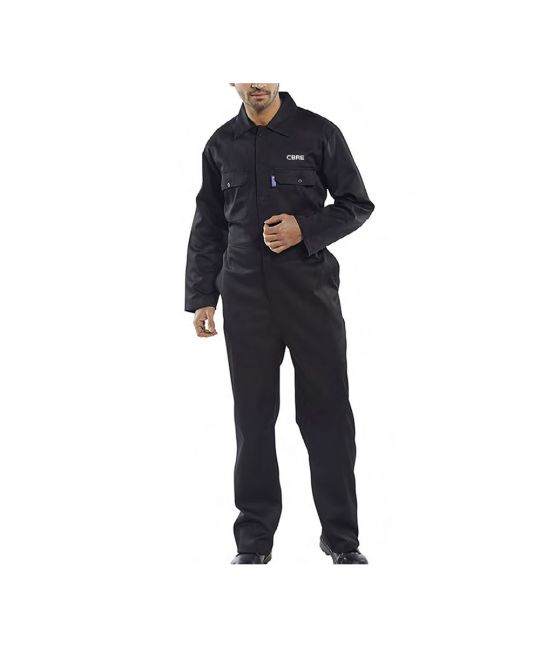 Regular Polycotton Boilersuit Black