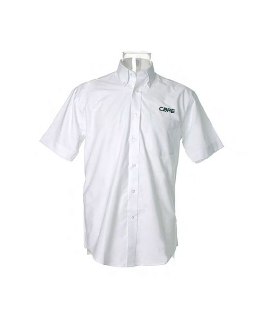 Short Sleeve Standard Workwear Oxford Shirt White