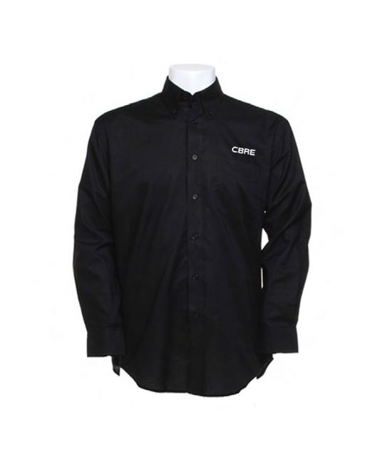 Long Sleeve Standard Workwear Oxford Shirt Black