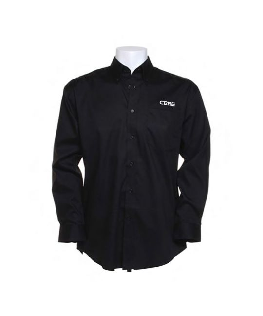 Long Sleeve Premium Oxford Shirt Black