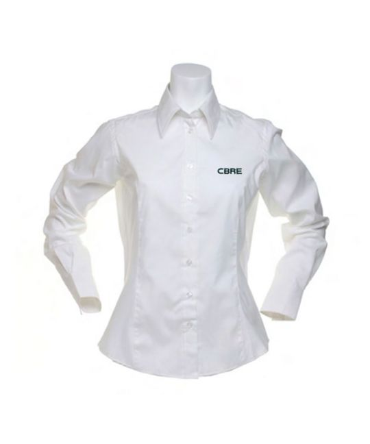 Ladies Long Sleeve Premium Oxford Shirt White