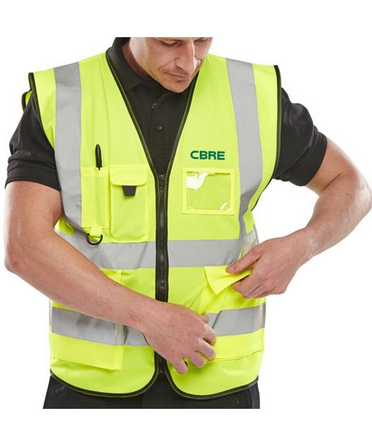 Executive Hi-Visibility Vest Saturn Yellow