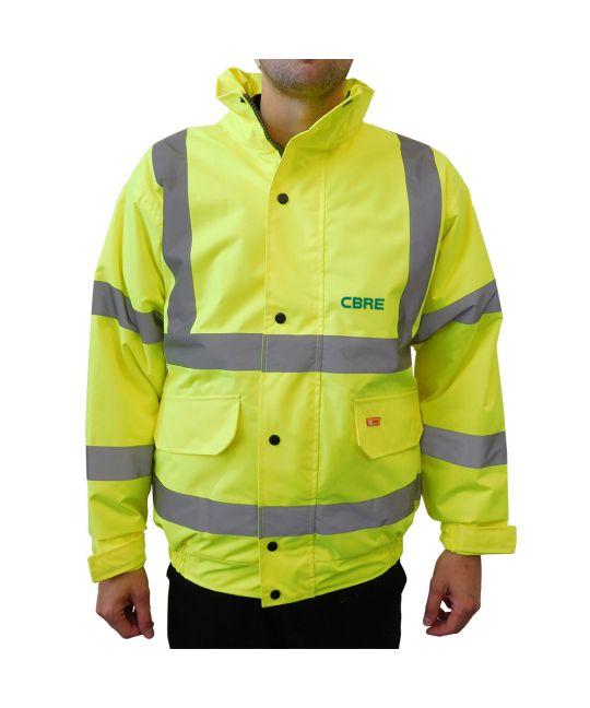 Hi-Visibility Bomber Jacket Saturn Yellow