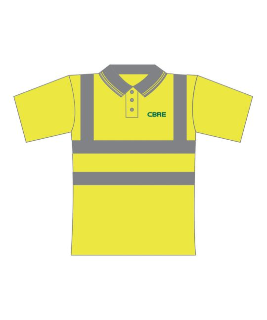 Hi-Visibility Polo Shirt Saturn Yellow