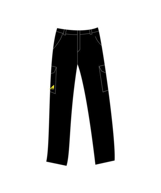 Gas Safe Teflon Coated Trouser Black