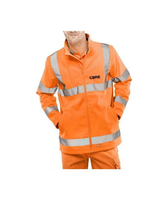 Rail Spec Hi-Visibility Soft Shell Jacket Orange