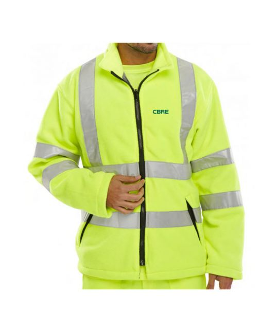 Hi-Visibility Fleece Jacket Saturn Yellow
