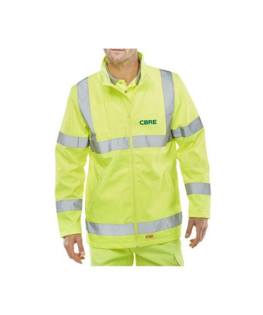 Hi-Visibility Soft Shell Jacket Saturn Yellow