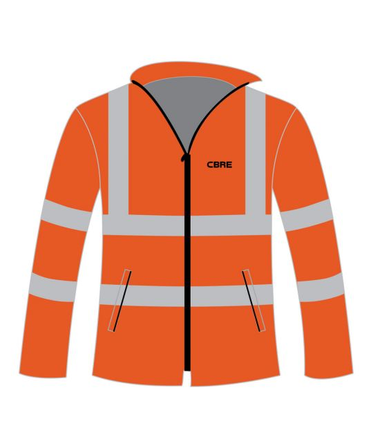 Rail Spec Hi-Visibility Fleece Jacket Orange