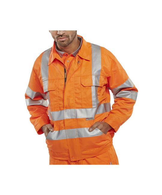 Rail Spec Hi-Visibility Constructor Jacket Orange