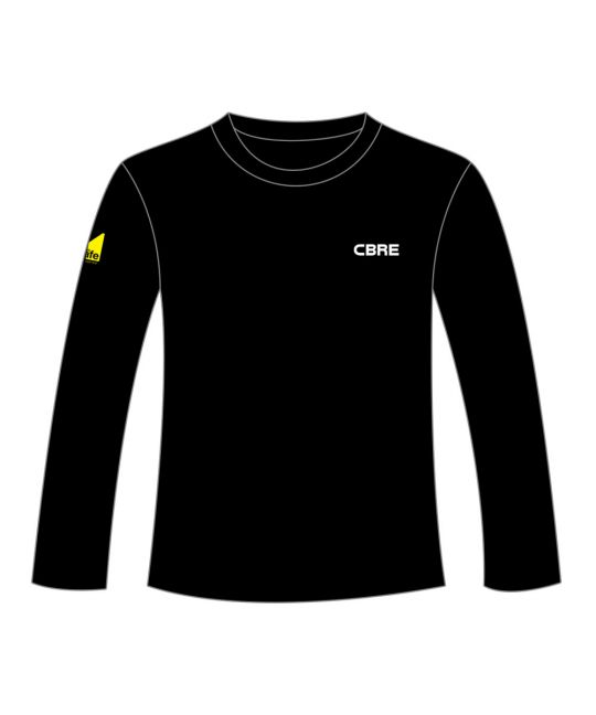 Crew Neck Sweatshirt Black With CBRE and Gas Safe Logos