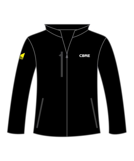 Soft Shell Jacket Black With CBRE Gas Safe Logos