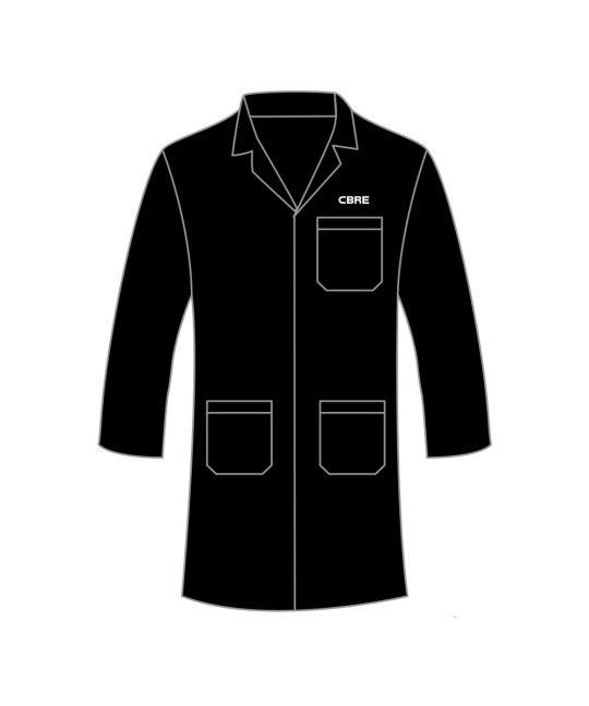 Apprentice Lab/Warehouse Coat Black With CBRE Logo