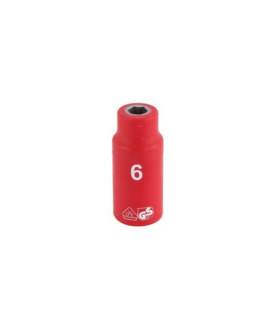 "1/4"" Sq. Dr. Fully Insulated VDE Socket (6mm)"