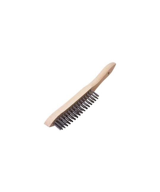 Heavy Duty 3 Row Wire Scratch Brush (310mm)