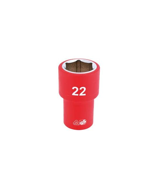 "1/2"" Sq. Dr. Fully Insulated VDE Socket (22mm)"