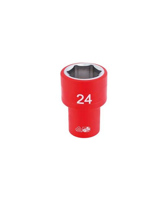 "1/2"" Sq. Dr. Fully Insulated VDE Socket (24mm)"
