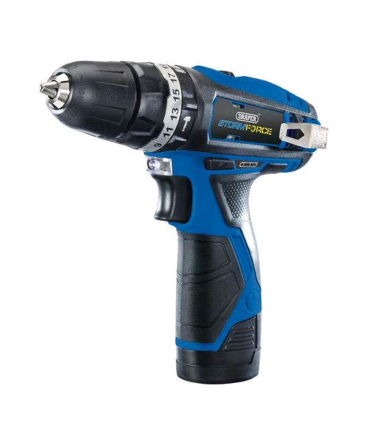Draper Storm Force 10.8V Comb Drill With 2x 1.5Ah Batteries and Charger