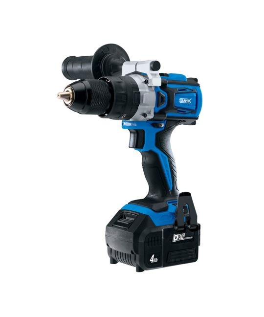Draper D20 Brushless Combi Drill With 2x 4.0Ah Batteries & Fast Charger & MCB Set & Bag