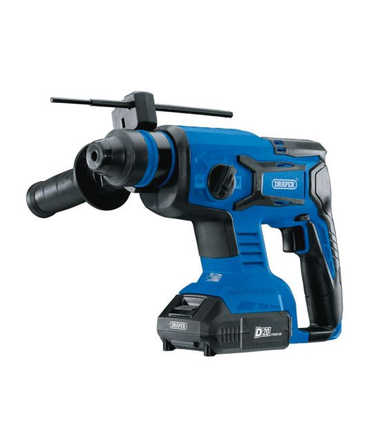 Draper D20 Brushless SDS+ Rotary Hammer Drill With 2x 2.0Ah Batteries and Charger