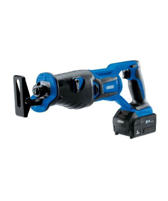 Draper D20 Brushless Reciprocating Saw With 1x 3.0Ah Battery and Fast Charger