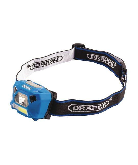 Draper 3W Rechargeable COB LED Headlamp