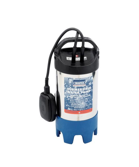Draper 235l/min Stainless Steel Body Submersible Dirty Water Pump With Float Switch (700W)