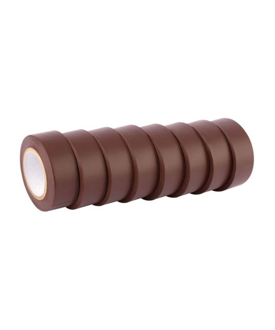 Draper Expert Brown Insulation Tape To BSEN60454/TYPE2 19mm x 10m (Pack of 8)