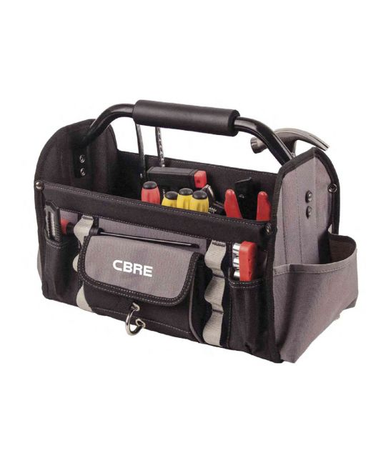 Open Tool Bag With CBRE Logo