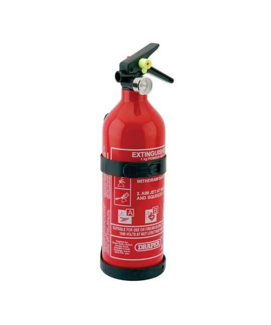 Draper 1kg Dry Powder Fire Extinguisher