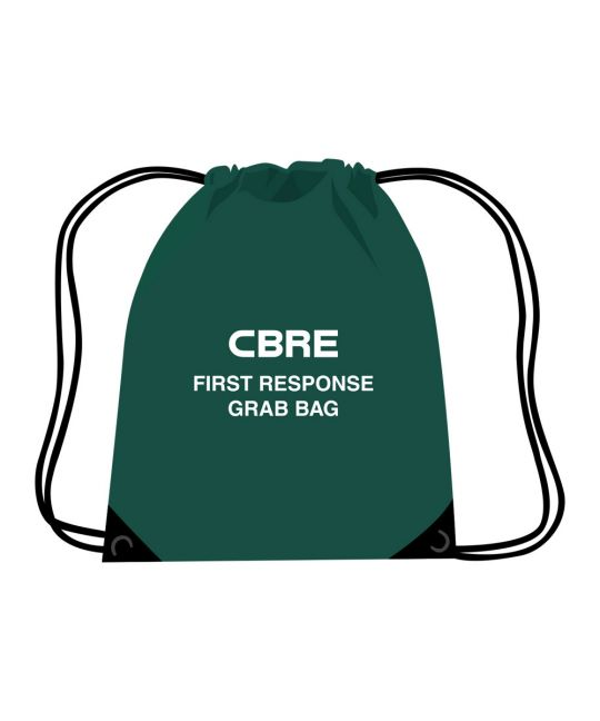 CBRE First Response Grab Bag - Draw String Bag