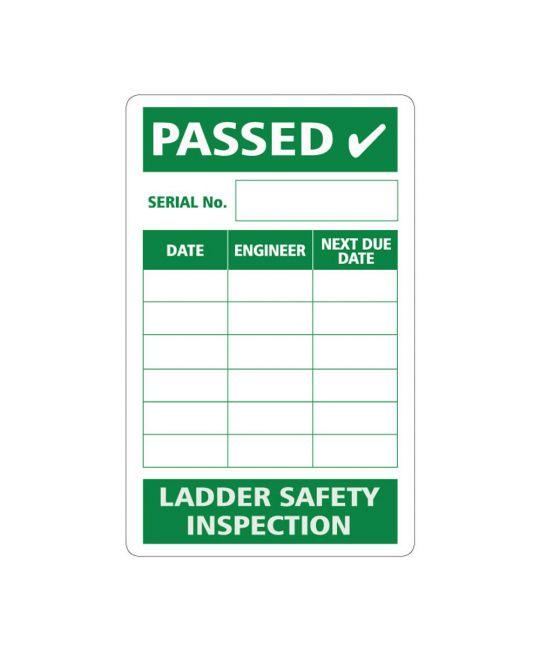 Passed Ladder Safety Inspection Self Adhesive 50x80mm (Pack of 50)