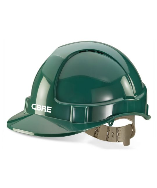 Green Premium Vented Safety Helmet