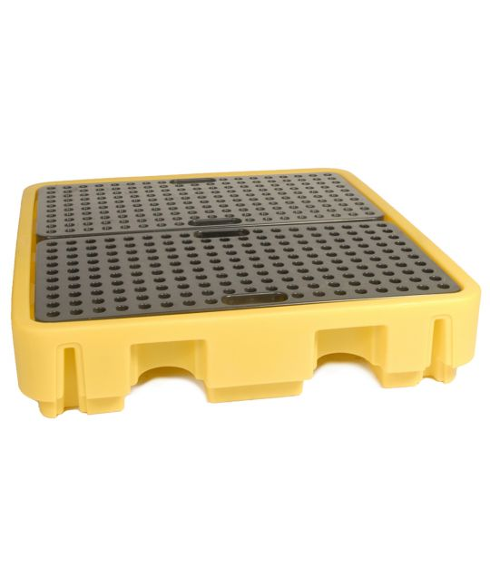 Spill Pallet For 4x 205l Drums Yellow 138 x 129 x 28cm