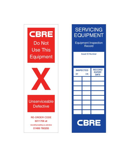 CBRE Replacement Ladder Tags (Pack of 20)