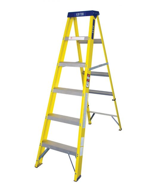 EN131-2 Professional Glassfibre Swingback Step Ladder