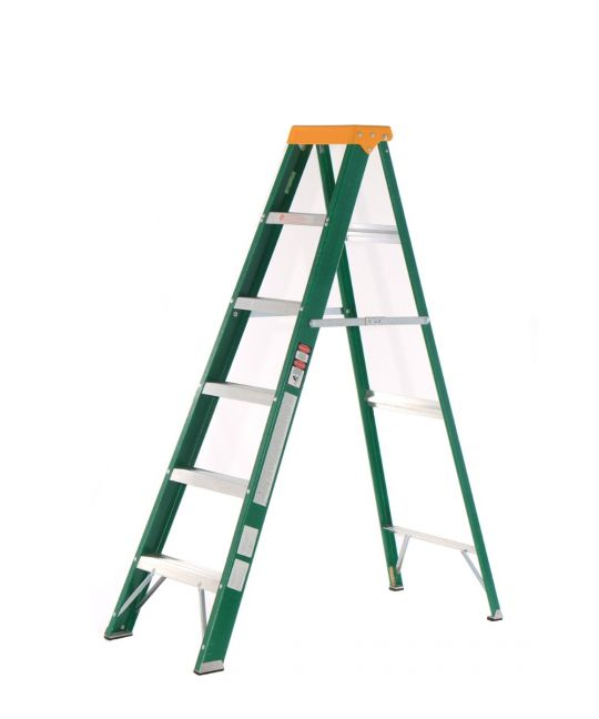 Lyte Industrial EN131-2 Professional Glassfibre Swingback Step Ladder