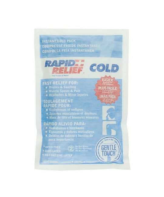 "Rapid Relief Instant Cold Pack Gentle Touch Large (5"" x 9"")"