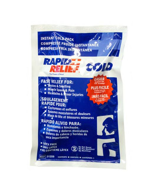 "Rapid Relief Instant Cold Pack Large (5"" x 9"")"