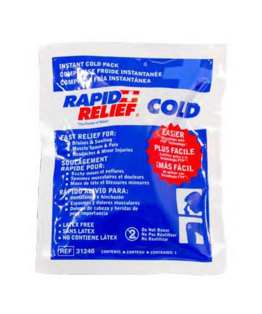 "Rapid relief Instant Cold Pack Small (4"" x 6"")"