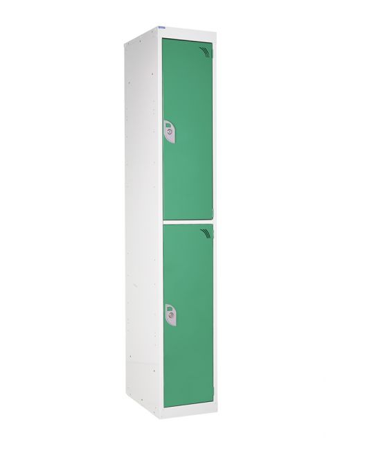Premium Locker 2 Compartments Comes With Cam Lock Green (1800 x 380 x 380mm)