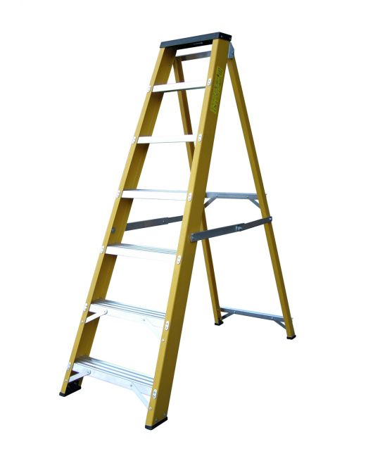 Heavy Duty EN131-2 Professional Glassfibre Swingback Step Ladder