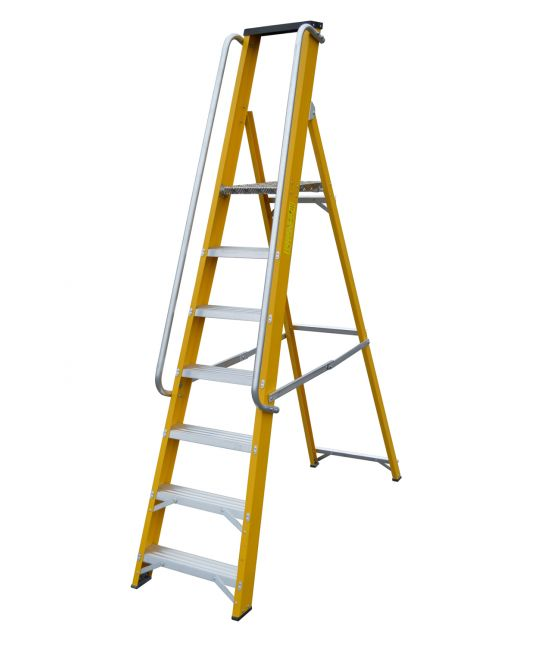 Heavy Duty EN131-2 Professional Glassfibre Platform Step Ladder