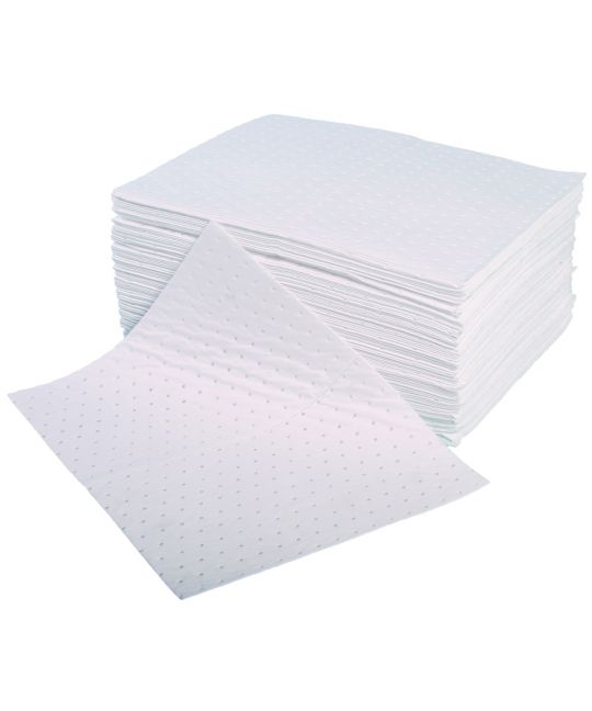 Double Weight Oil & Fuel Pads Bonded And Perforated 40 x 50cm (Pack of 100)