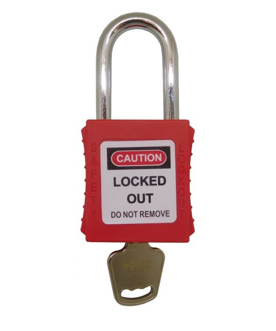Steel Shackle LOTO Padlock Red (38mm)